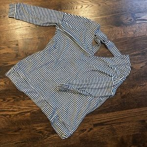 Free People white and black striped sweater